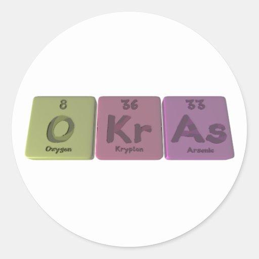 Okras-O-Kr-As-Oxygen-Krypton-Arsenic.png Etiqueta Redonda