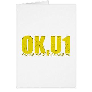 OKU1 en amarillo Tarjetón