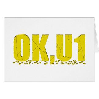 OKU1 en amarillo Tarjeton