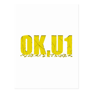 OKU1 en amarillo Postal