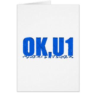 OKU1 en azul Tarjeta De Felicitación