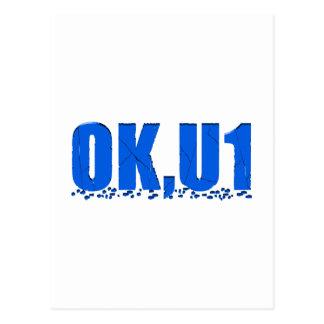 OKU1 en azul Postal