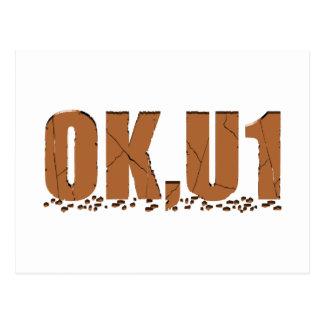 OKU1 en Brown Tarjetas Postales