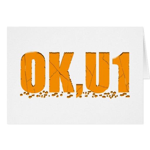 OKU1 en naranja Tarjeton