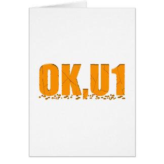 OKU1 en naranja Tarjeta