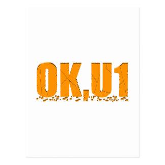 OKU1 en naranja Postales