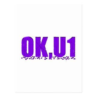 OKU1 en púrpura Postal