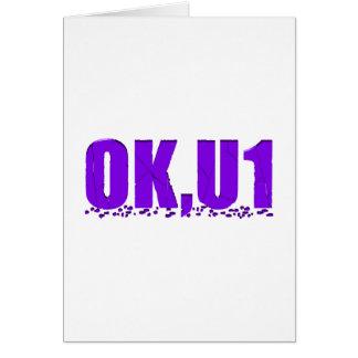 OKU1 en púrpura Felicitacion