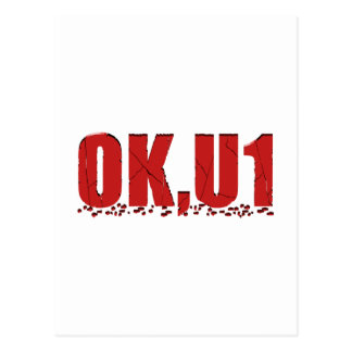 OKU1 en rojo Postal
