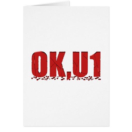 OKU1 en rojo Felicitaciones
