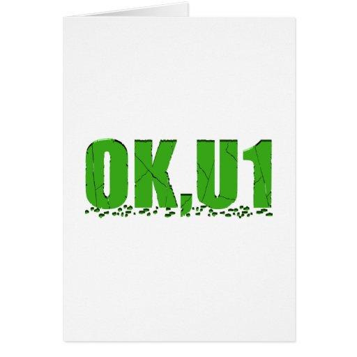 OKU1 en verde Felicitaciones