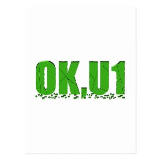 OKU1 en verde Postal