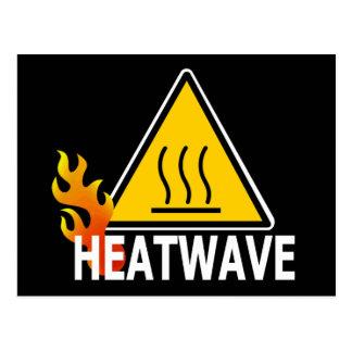 Ola de calor - señal de peligro de la ola de calor postal