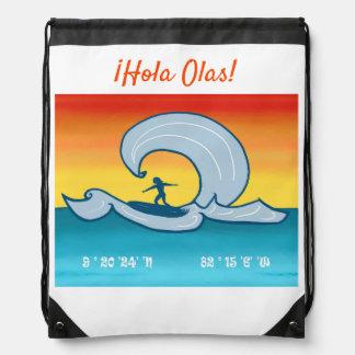 ¡Olas de Hola del ¡! - Mochila que practica surf