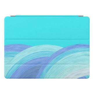 Olas oceánicas azules cubierta para iPad pro