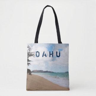 Olas oceánicas y playa de Oahu Hawaii Bolso De Tela