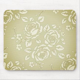 Old_Retro-Floral (c) Unisex_Cream_ Alfombrilla De Ratón