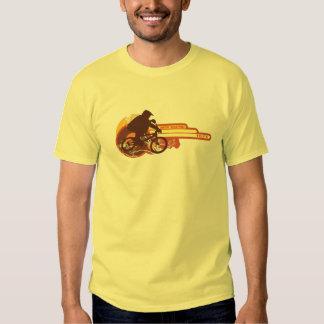 oldschool del vintage de los años 70 que compite camiseta
