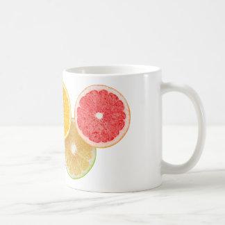 Olimpiadas de la fruta cítrica taza de café