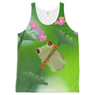 Oliverio las camisetas sin mangas de la rana
