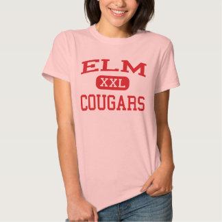 Olmo - pumas - joven - parque Illinois de Elmwood Camiseta