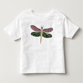 Olmo Shell y libélula del vitral Camisetas