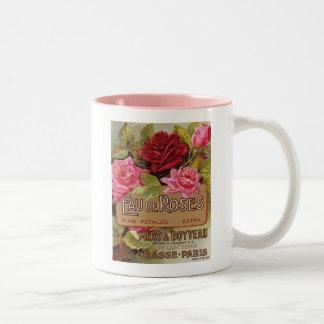Olor de Eau De Roses french Taza De Dos Tonos