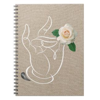 Olor de Jitaku el cuaderno de lino de la cubierta