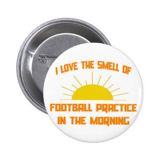 Olor de la práctica del fútbol por la mañana pins