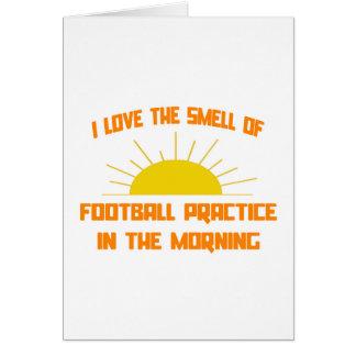 Olor de la práctica del fútbol por la mañana felicitación