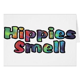 Olor de los hippies tarjeta de felicitación