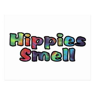 Olor de los hippies postal