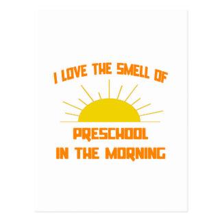 Olor del preescolar por la mañana tarjetas postales