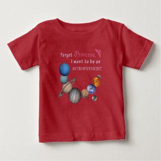 Olvide a la princesa - astrofísico camiseta de bebé