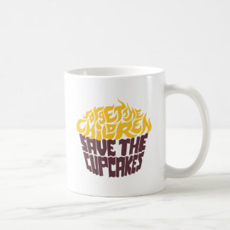 Olvide a los niños - oro+Chocolate Taza Clásica