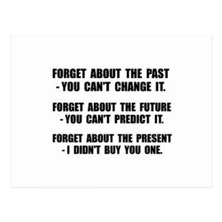 Olvide el presente postal