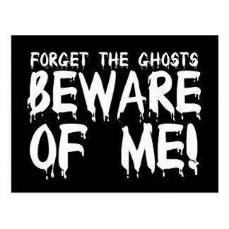 Olvide que los fantasmas se guardan de mí tarjeta postal