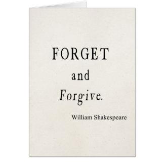 Olvide y perdone la cita personalizada de tarjeta pequeña