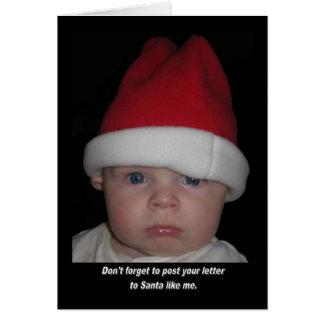 Olvidó fijar la letra para engendrar navidad tarjeta de felicitación