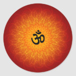 OM espiritual en mandala Etiquetas