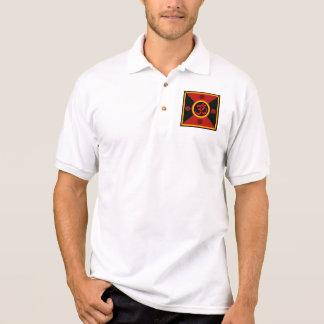 OM Yantra rojo negro oro Camiseta