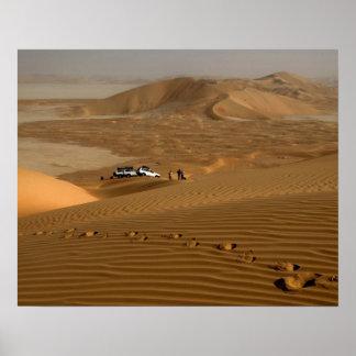 Omán, desierto de Khali del Al de la frotación, co Póster