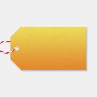 Ombre amarillo y anaranjado etiquetas para regalos