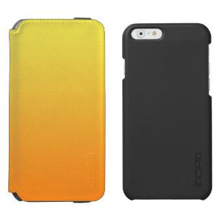 Ombre amarillo y anaranjado funda cartera para iPhone 6 watson