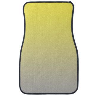 """""""Ombre amarillo y gris"""" Alfombrilla De Coche"""
