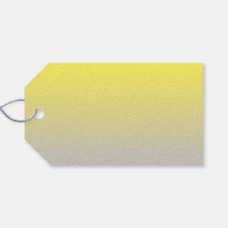 Ombre amarillo y gris etiquetas para regalos