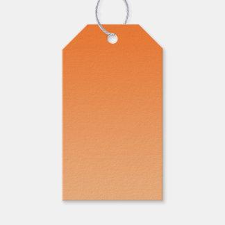 Ombre anaranjado etiquetas para regalos