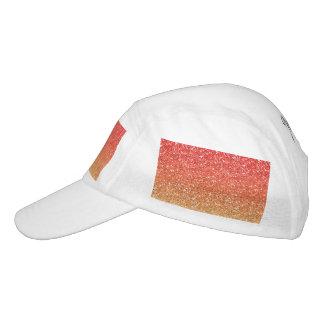 Ombre ardiente con efecto del brillo gorra de alto rendimiento