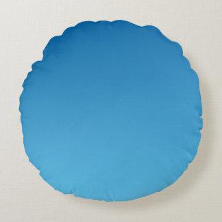 Ombre azul cojín redondo
