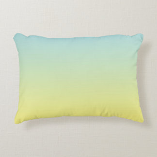 """""""Ombre azul y amarillo"""" Cojín Decorativo"""